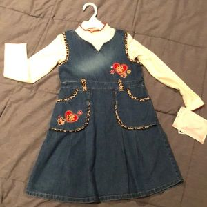 Little girl 2 piece dress